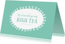 Uitnodigingen - Uitnodiging high tea mintgroen