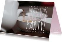 Uitnodigingen - Uitnodiging high tea party