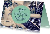Uitnodigingen - Uitnodiging high tea retro