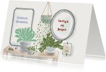 Uitnodigingen - Uitnodiging housewarming Urban Jungle