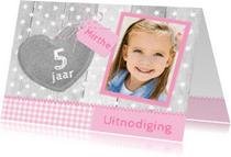 Kinderfeestjes - Uitnodiging Hout Linnen Hart