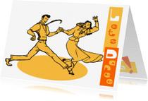 Uitnodigingen - Uitnodiging Jaren 50 Lets Dance