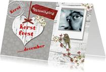 Kerstkaarten - Uitnodiging kerstfeest hart