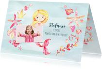 Kinderfeestjes - Uitnodiging kinderfeestje met zeemeermin