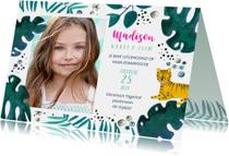 Kinderfeestjes - Uitnodiging tijger jungle