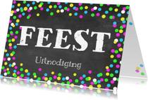 Uitnodigingen - Uitnodigingskaart Confetti