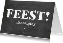 Uitnodigingen - uitnodigingskaart krijtbord