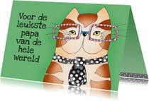 Vaderdag kaarten - Vaderdag Kat met stropdas - SK