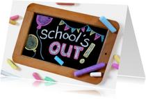 Vakantiekaarten - Vakantie - School is out