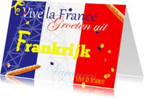 Vakantiekaarten - Vakantie vlag Frankrijk