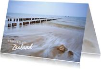 Vakantiekaarten - Vakantiegroet strand Zoutelande