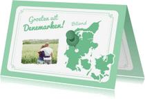 Vakantiekaarten - Vakantiekaart Denemarken Kaart