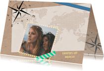 Vakantiekaarten - Vakantiekaart map kompas - SV