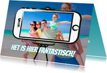 Vakantiekaarten - Vakantiekaart selfie - SG