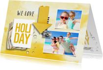 Vakantiekaart zonnig met foto's