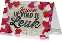 Valentijnskaarten - Valentijn confetti hartjes leuk