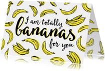 Valentijnskaarten - Valentijn totally bananas
