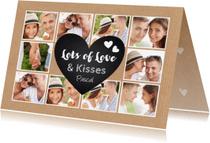 Valentijnskaarten - Valentijnskaart collage liefde