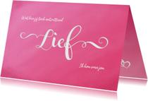 Valentijnskaart 'lief' met aanpasbare tekst