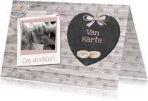 Felicitatiekaarten - Van Harte geboorte beschuitje