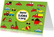 Verjaardagskaarten - Veel stoere autos voor stoere jongen