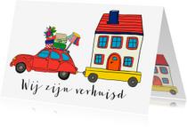 Verhuiskaarten - Verhuiskaart aanhanger