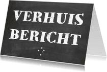 Verhuiskaarten - Verhuiskaart bericht schoolbord