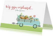 Verhuiskaarten - Verhuiskaart busje volkswagen samenwonen