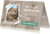 Verhuiskaarten - Verhuiskaart hout LB46