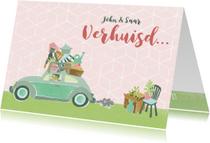 Verhuiskaarten - Verhuiskaart samenwonen kever auto