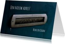 Verhuiskaarten - verhuiskaart vintage brievenbus