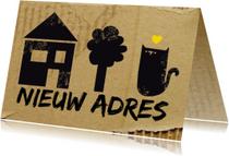 Verhuiskaarten - Verhuizen Huis Boom Beest
