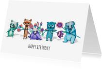 Verjaardagskaarten - Verjaardag birthday - KK