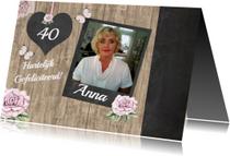 Verjaardagskaarten - Verjaardag felicitatie krijtbord