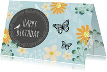 Verjaardagskaarten - Verjaardag natuur blauw - SV