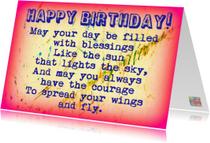 Verjaardagskaarten - Verjaardag spread your wings IW