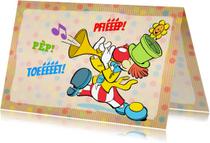 Verjaardagskaarten - Verjaardag Trompet Clown - A