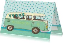 Verjaardagskaarten - Verjaardag vintage busje