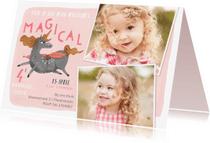 Kinderfeestjes - Verjaardagsfeestje Unicorn met 2 foto's