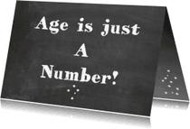 Verjaardagskaarten - Verjaardagskaart  Age is just