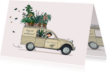 Verjaardagskaart Citroën Besteleend beige