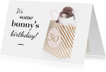 Verjaardagskaarten - Verjaardagskaart - It's some bunny's birthday