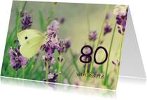 Verjaardagskaarten - Verjaardagskaart koolwitje 80