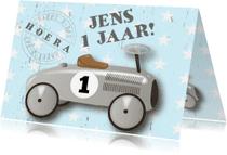 Verjaardagskaarten - Verjaardagskaart loopauto stoer