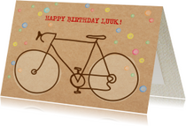 Verjaardagskaarten - Verjaardagskaart Racefiets