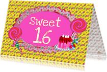 Verjaardagskaarten - Verjaardagskaart Sweet 16 PA