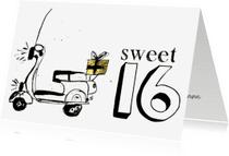 Verjaardagskaarten - Verjaardagskaart Sweet 16