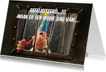 Verjaardagskaarten - Verjaardagskaarten met feestmuts