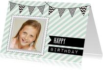 Verjaardagskaarten - Verjaardagskaartje Vlaggetje