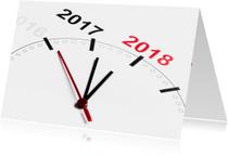Nieuwjaarskaarten - Vijf voor twaalf - bijna 2018